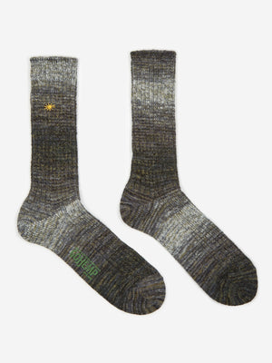 Anonymous Ism GO HEMP Splash Crew Sock - Grey