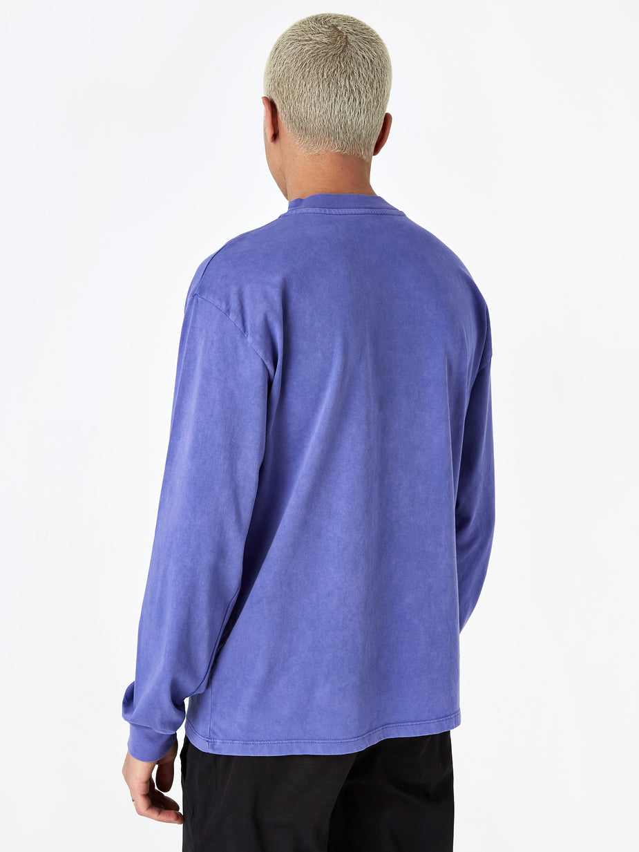 Aries Aries Acid Wash Pocket Longsleeve T-Shirt - Violet - Purple