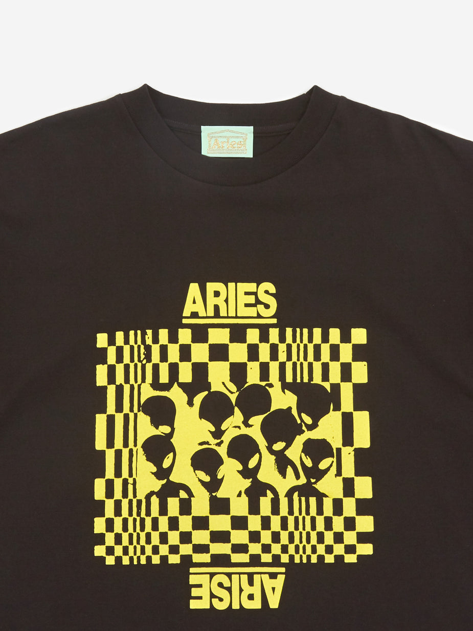 Aries Aries Alien Family Shortsleeve T-Shirt - Black - Black