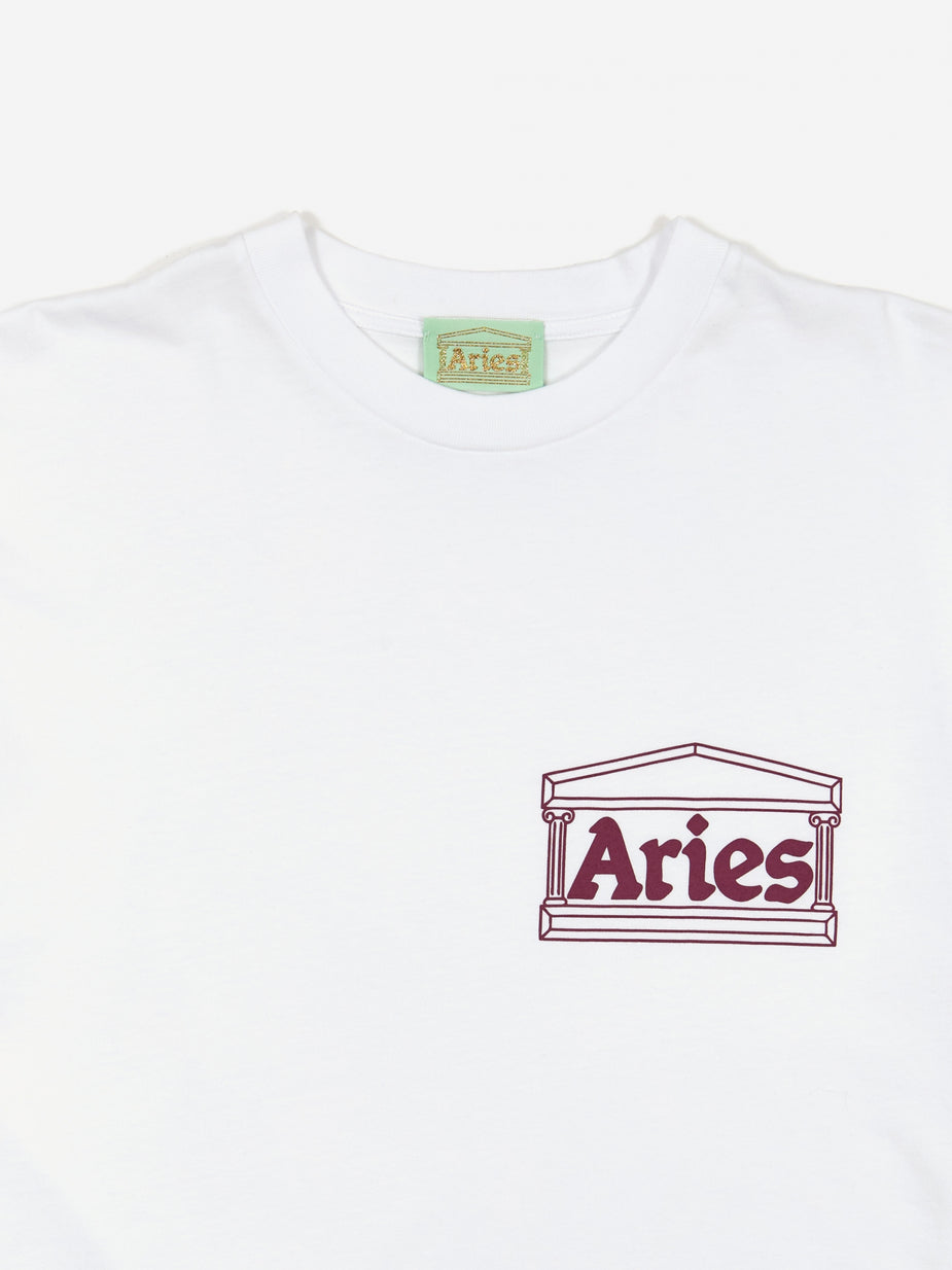 Aries Aries Classic Temple Shortsleeve T-Shirt - White - White