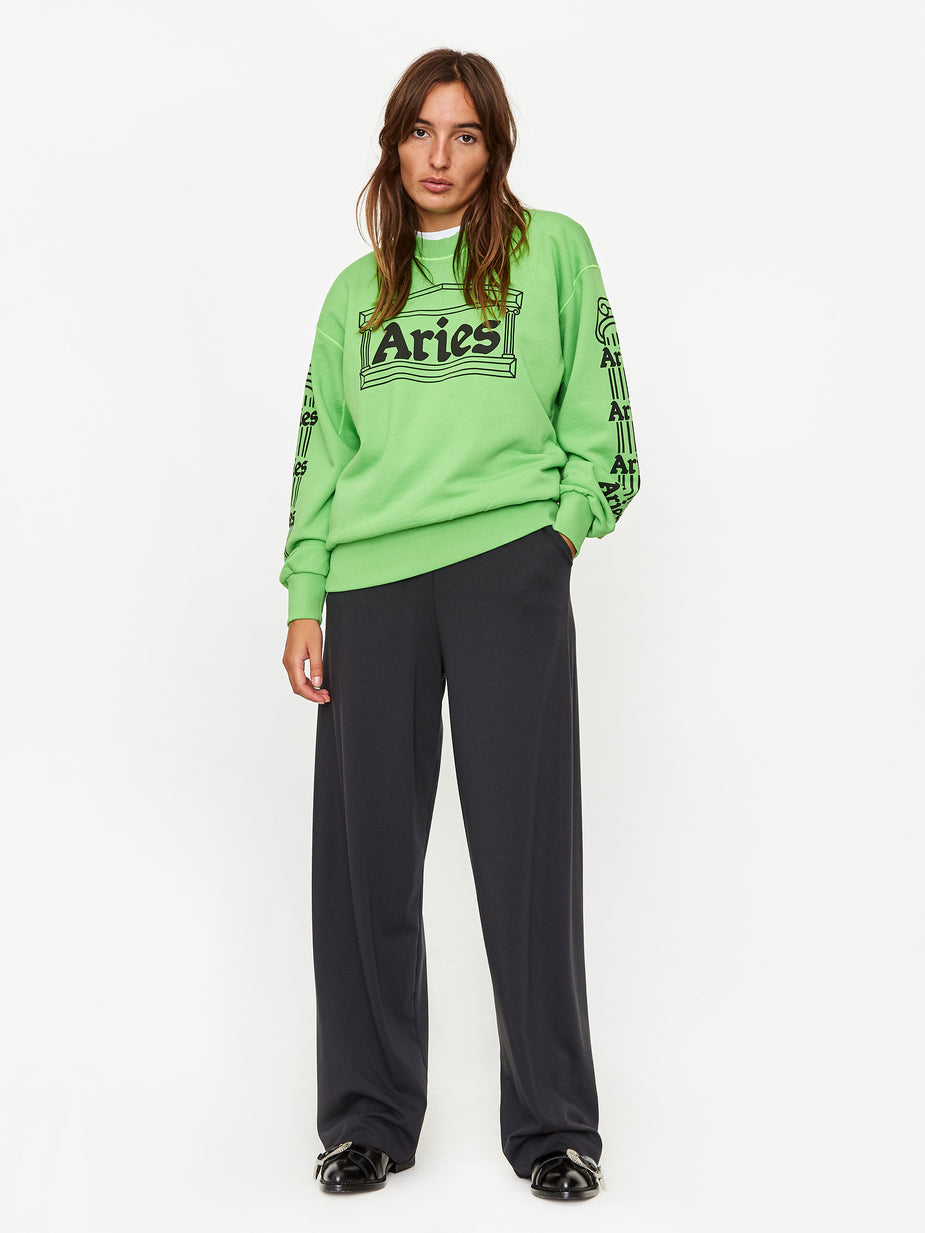 Aries Aries Column Sweatshirt - Green - Green