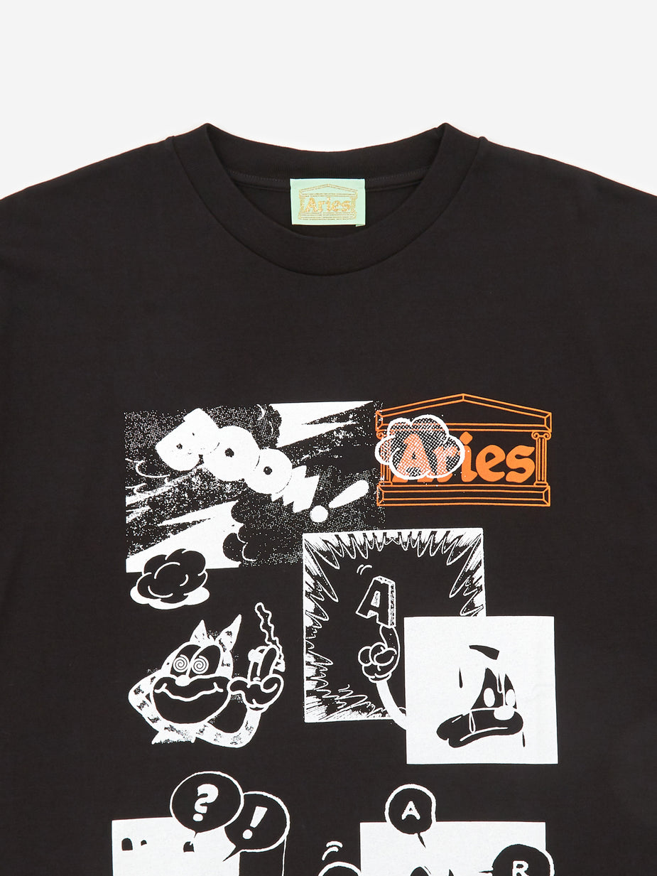 Aries Aries Comic Shortsleeve T-Shirt - Black - Black