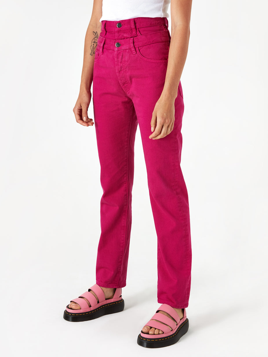 Aries Aries Double Waisted Lilly Jean - Fuschia - Pink
