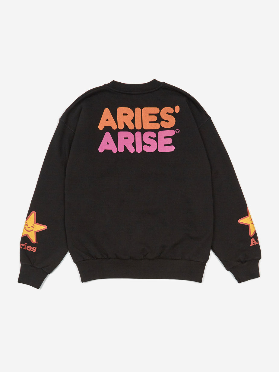 Aries Aries Fast Food Sweatshirt - Black - Black