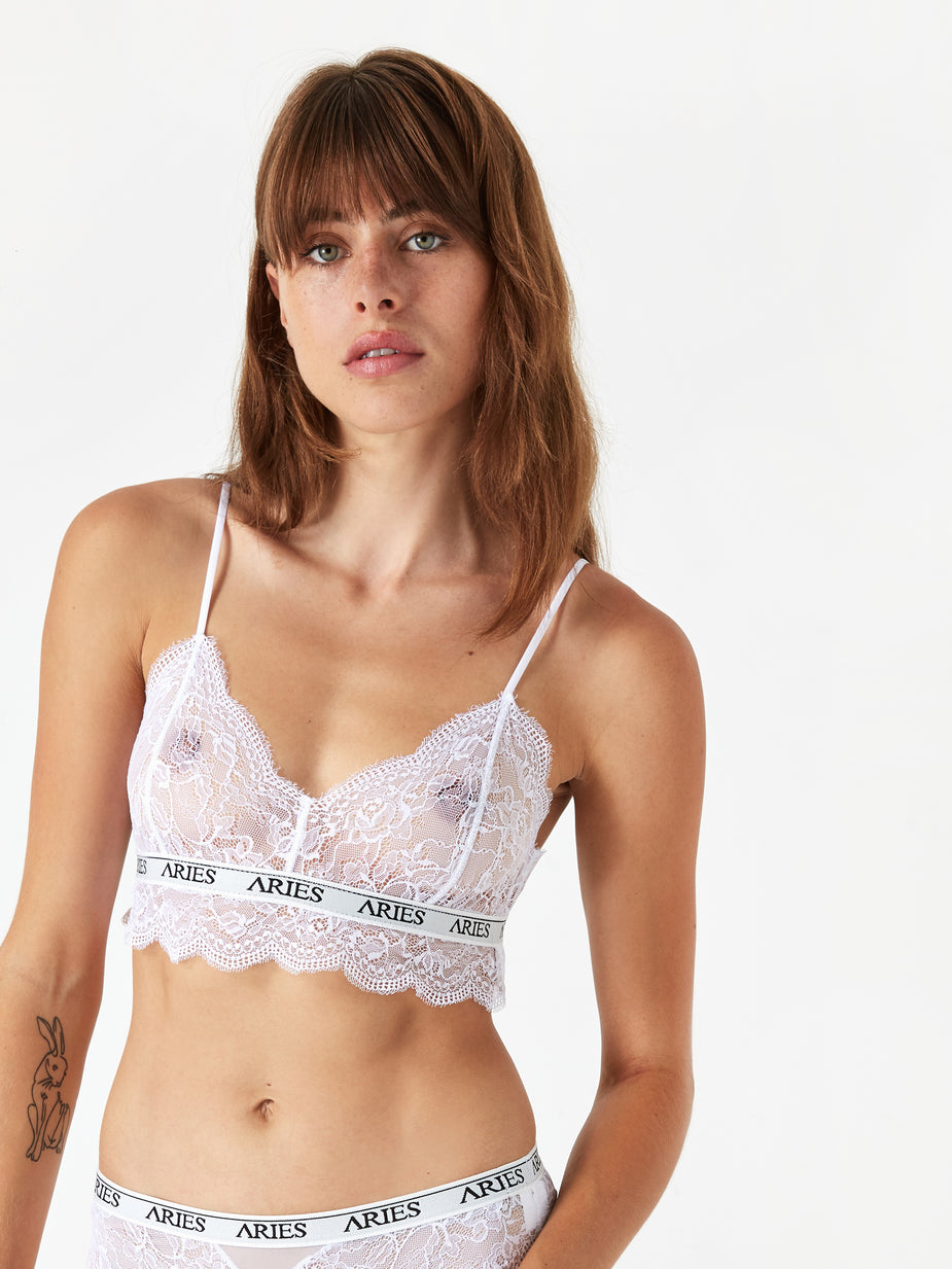 Aries Aries Lace Bra Top - Ivory - Neutrals