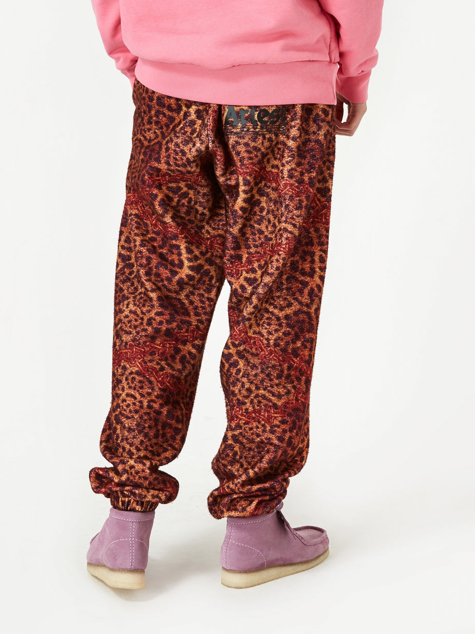 Aries Aries Leopard Chain Sweatpant - Leopard - Animal Print