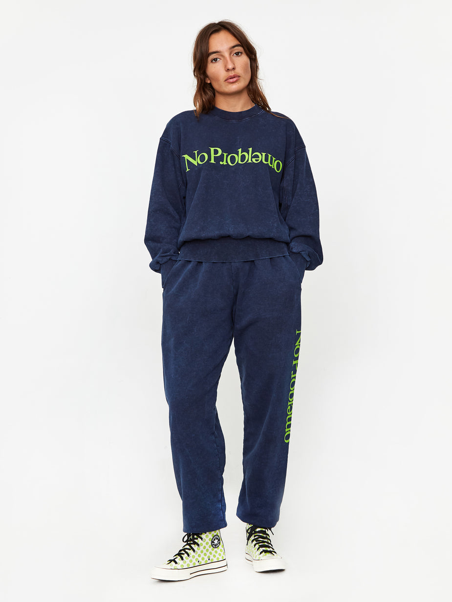 Aries Aries No Problemo Sweatpant - Blue - Blue