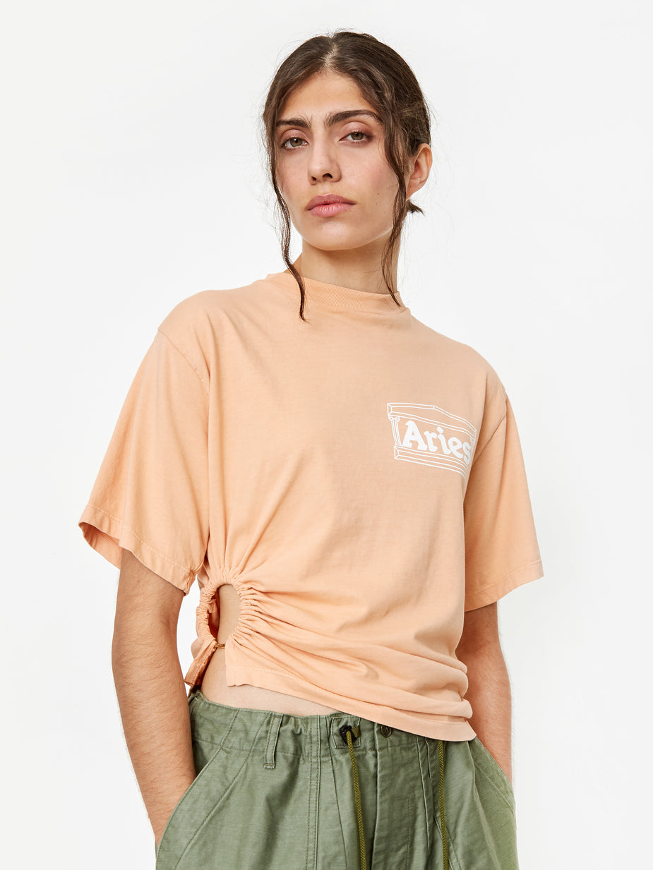 Aries Aries Ring T-Shirt - Peach - Orange