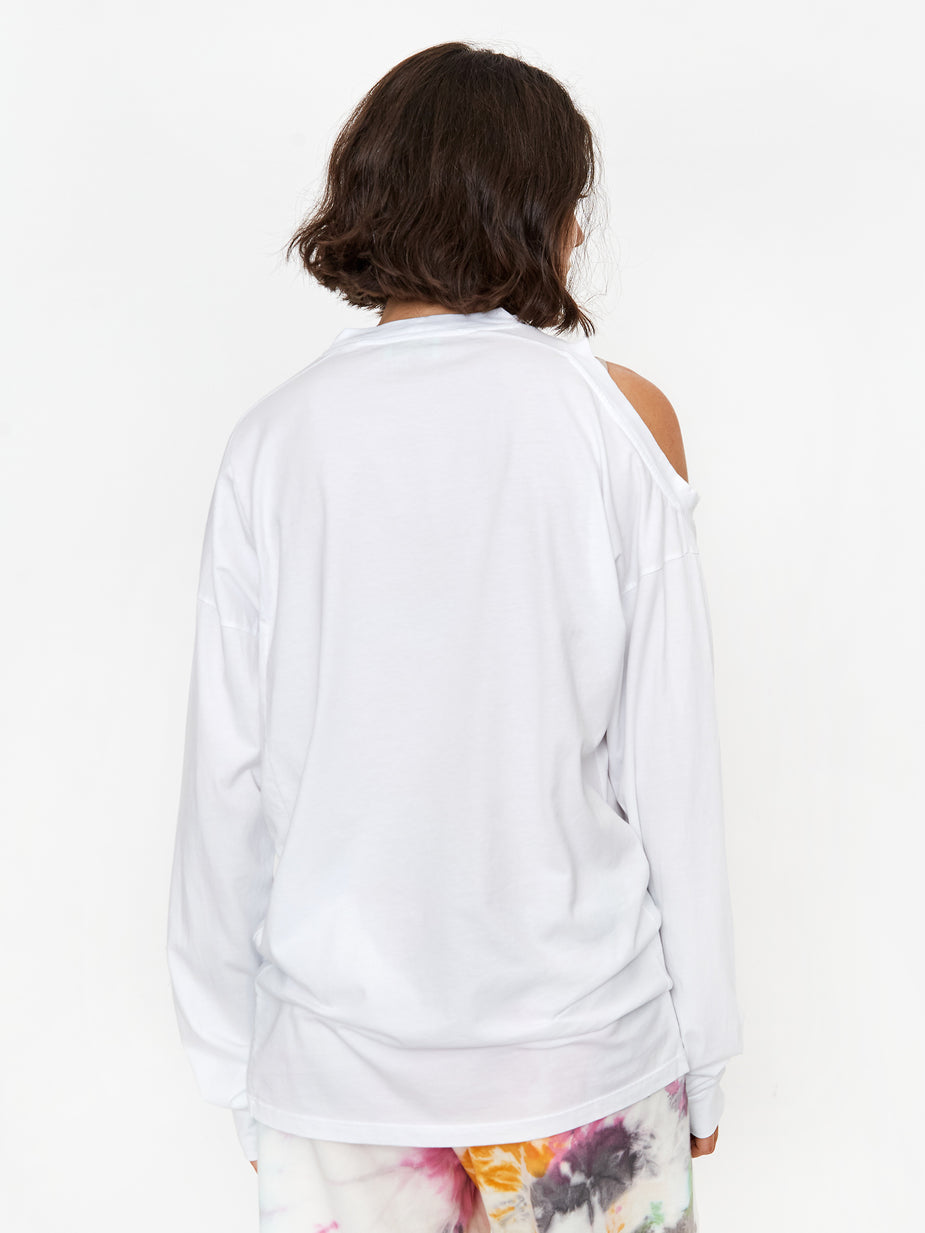 Aries Aries Shoulder Hole Super Longsleeve T-Shirt - White - White