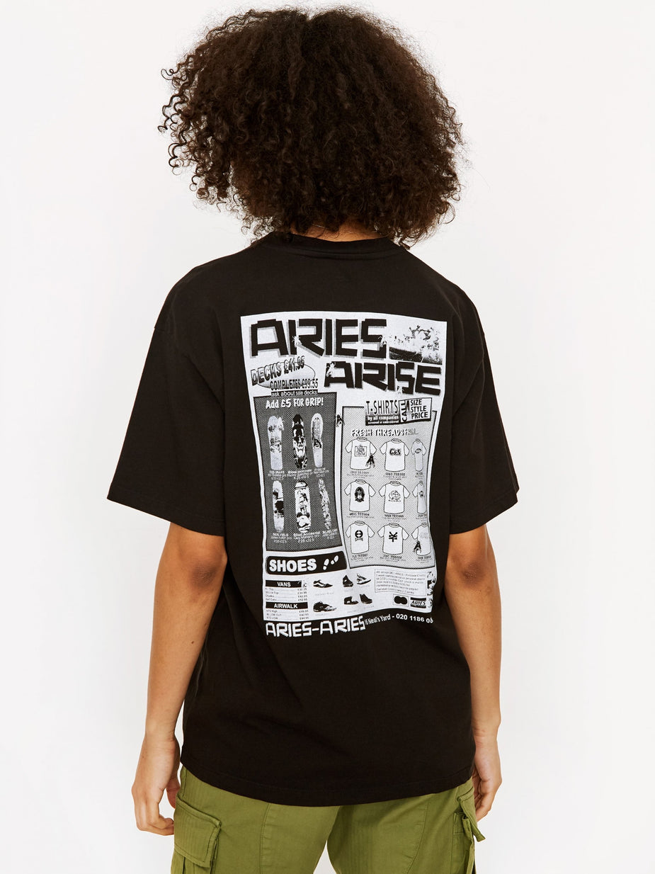 Aries Aries Skate Shortsleeve T-Shirt - Black. - Black