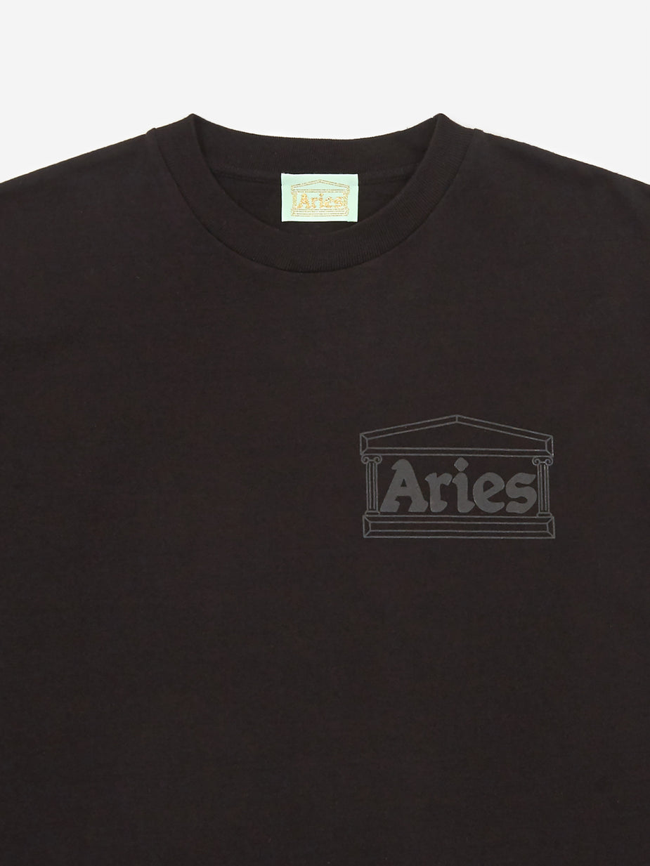 Aries Aries Temple Shortsleeve T-Shirt - Black - Black