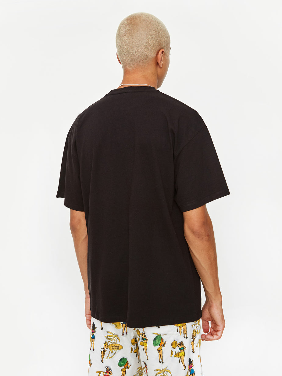 Aries Aries Temple Shortsleeve - Black - Black