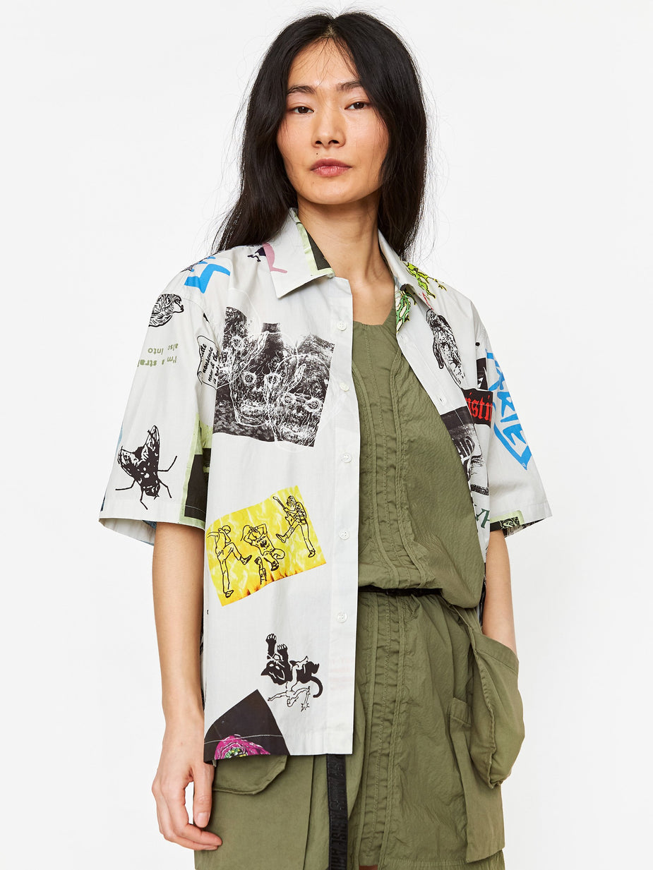 Aries Aries Thrasher Hawaiian Shirt - White - White