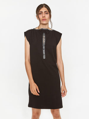 Aries Zip Dress - Black