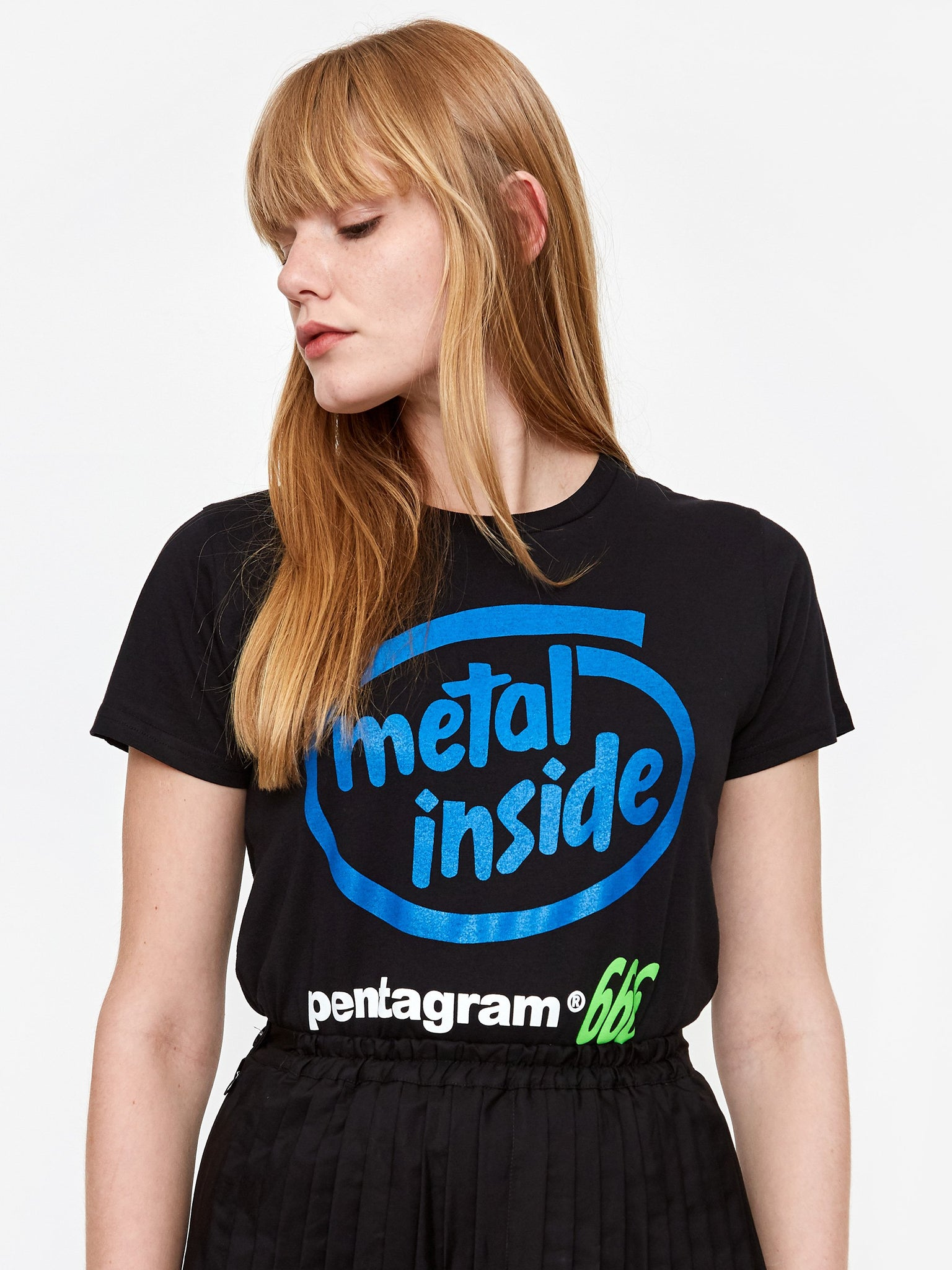 Ashley Williams Metal Inside Shortsleeve T-Shirt - Black/Blue