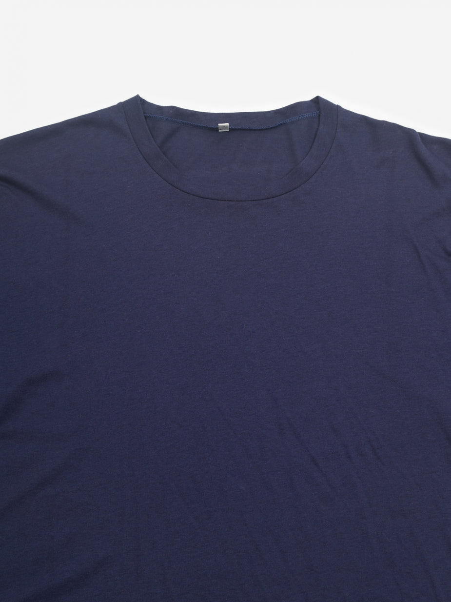 Baserange Baserange Bob T-Shirt Cotton Silk - Navy - Blue