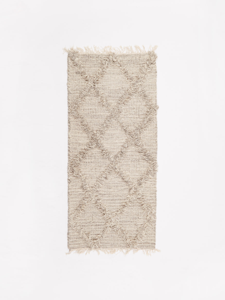 BasShu BasShu Wool Cross Mat 50x120cm - Grey - Other