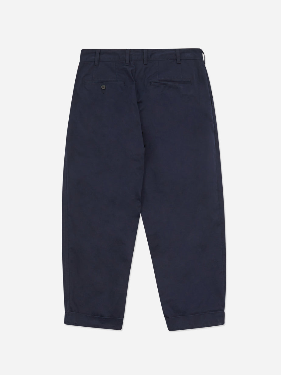 Beams Plus Beams Plus 2 Pleats Twill Trouser - Dark Navy - Blue