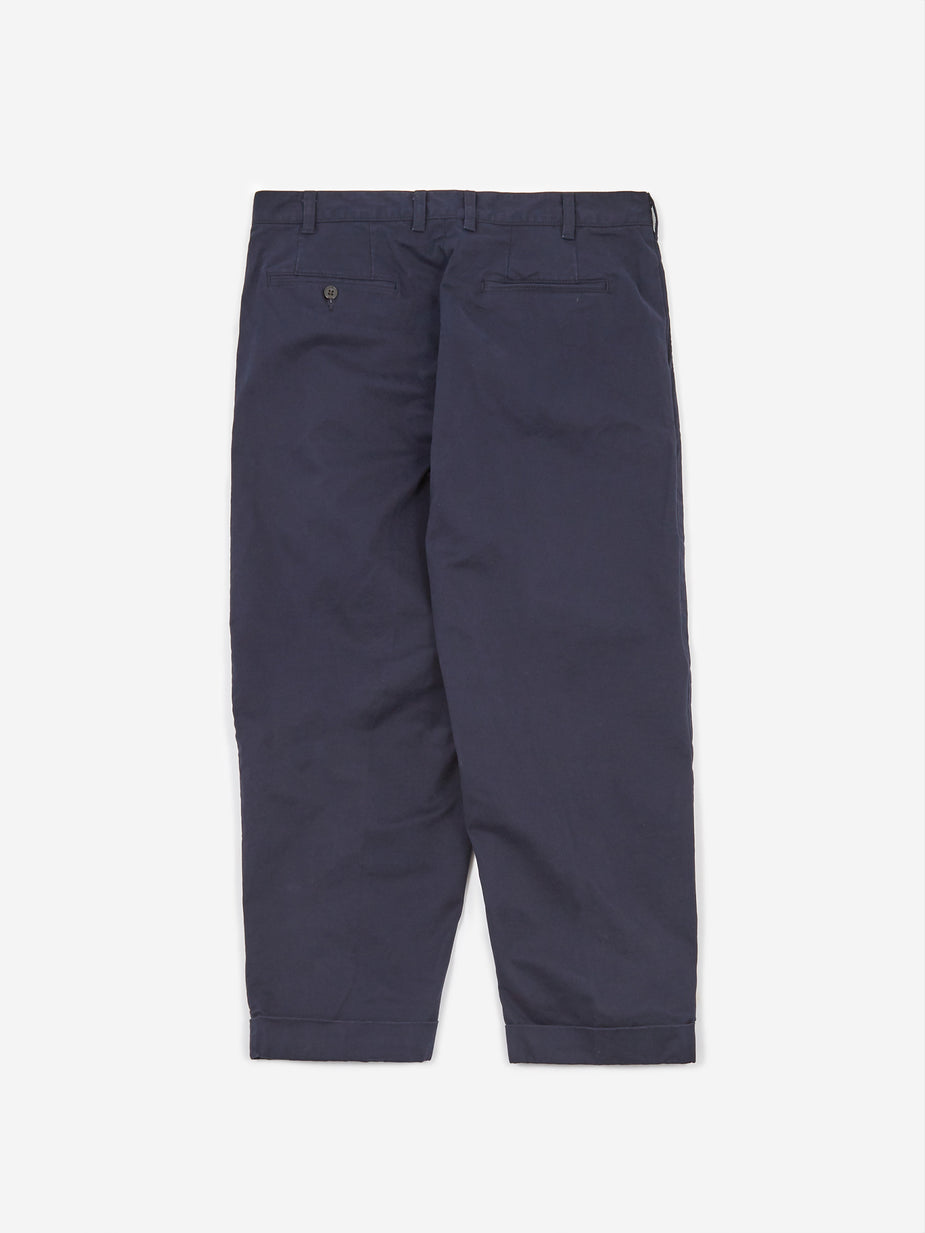 Beams Plus Beams Plus 2Pleats Twill Trouser - Dark Navy - Navy