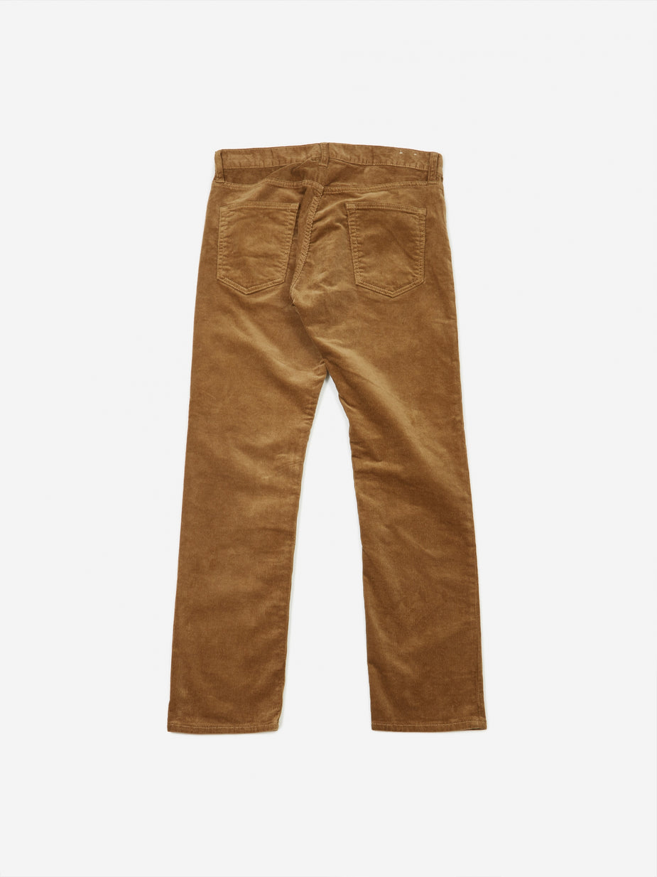 Beams Plus Beams Plus 5 Pocket Tapered Corduroy Trouser - Beige - Neutrals