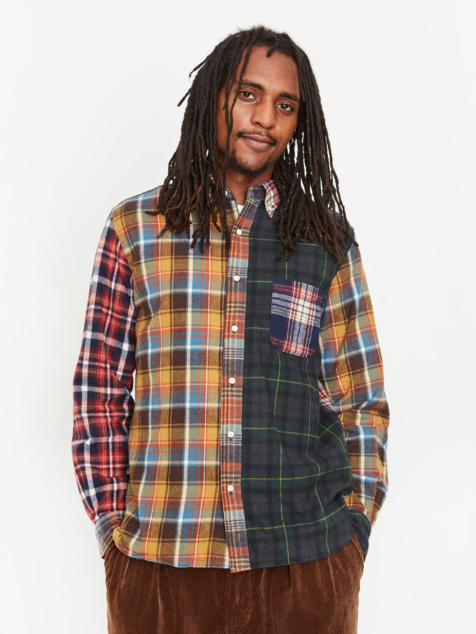 Beams Plus Beams Plus B.D. Multi Pattern Shaggy Check Shirt - Crazy - Multi