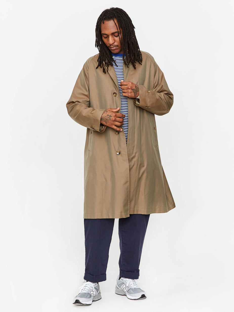 Beams Plus Beams Plus Bal Collar Chambray Coat - Olive - Green