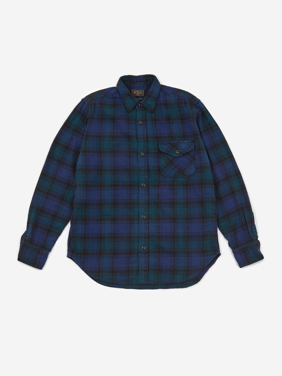 Beams Plus Beams Plus guide Shaggy Check Shirt - B/Watch - Black