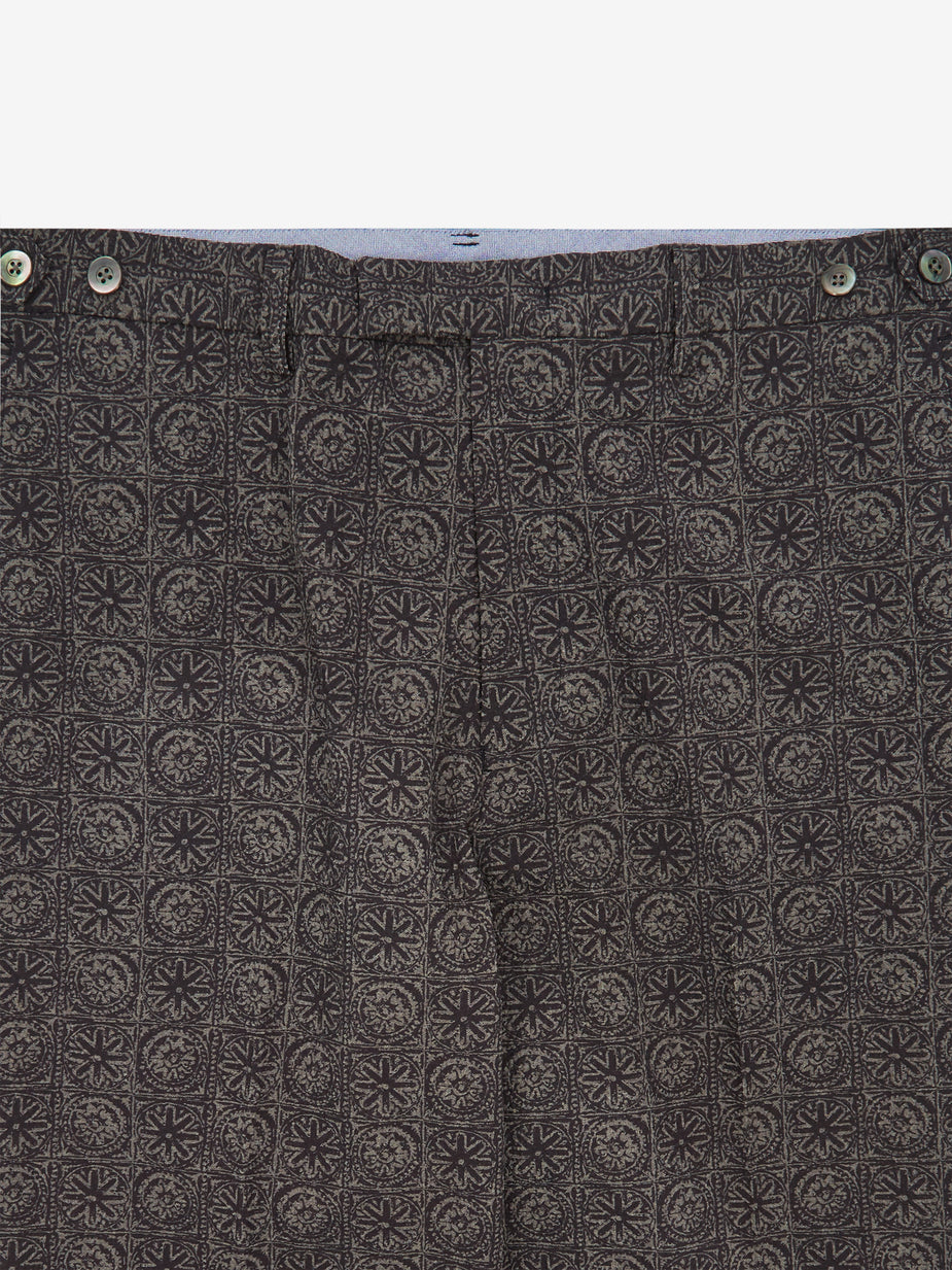 Beams Plus Beams Plus Ivy Seersucker Print Trouser - Batik - Purple