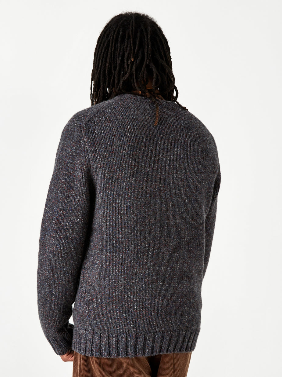 Beams Plus Beams Plus Lily Yarn Crew Neck Jumper - Grey - Grey