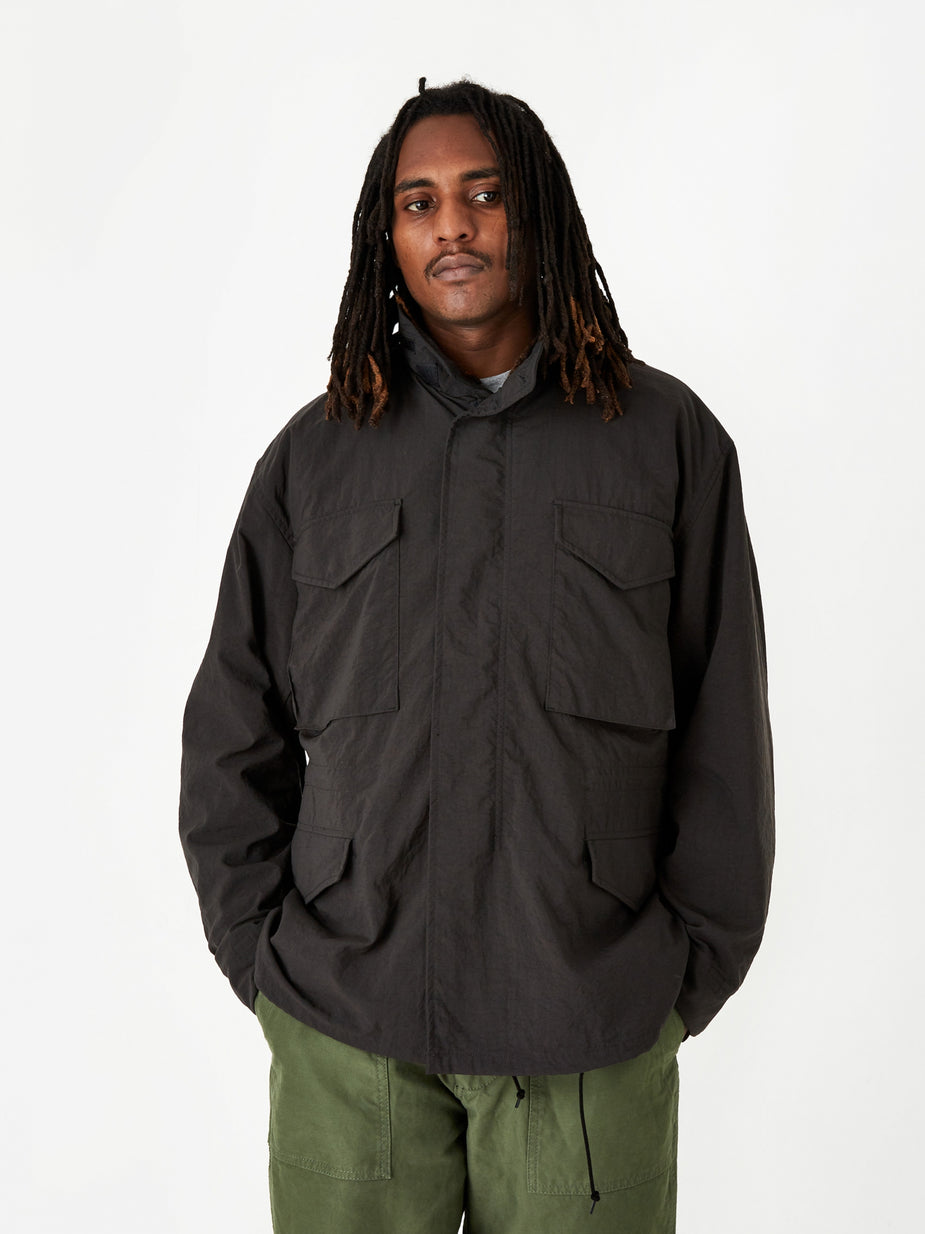 Beams Plus Beams Plus M-65 Solid Jacket - Black - Black