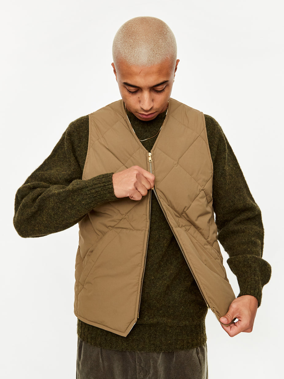 Beams Plus Beams Plus Quilting Stitch 2Layer Vest - Olive - Green