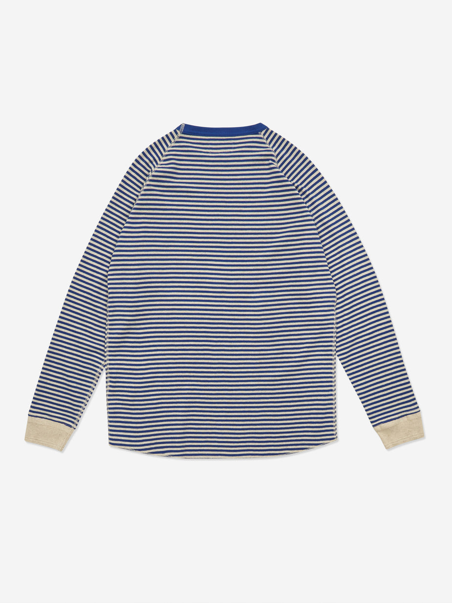 Beams Plus Beams Plus Rib Border Crewneck Sweatshirt - Blue - Blue