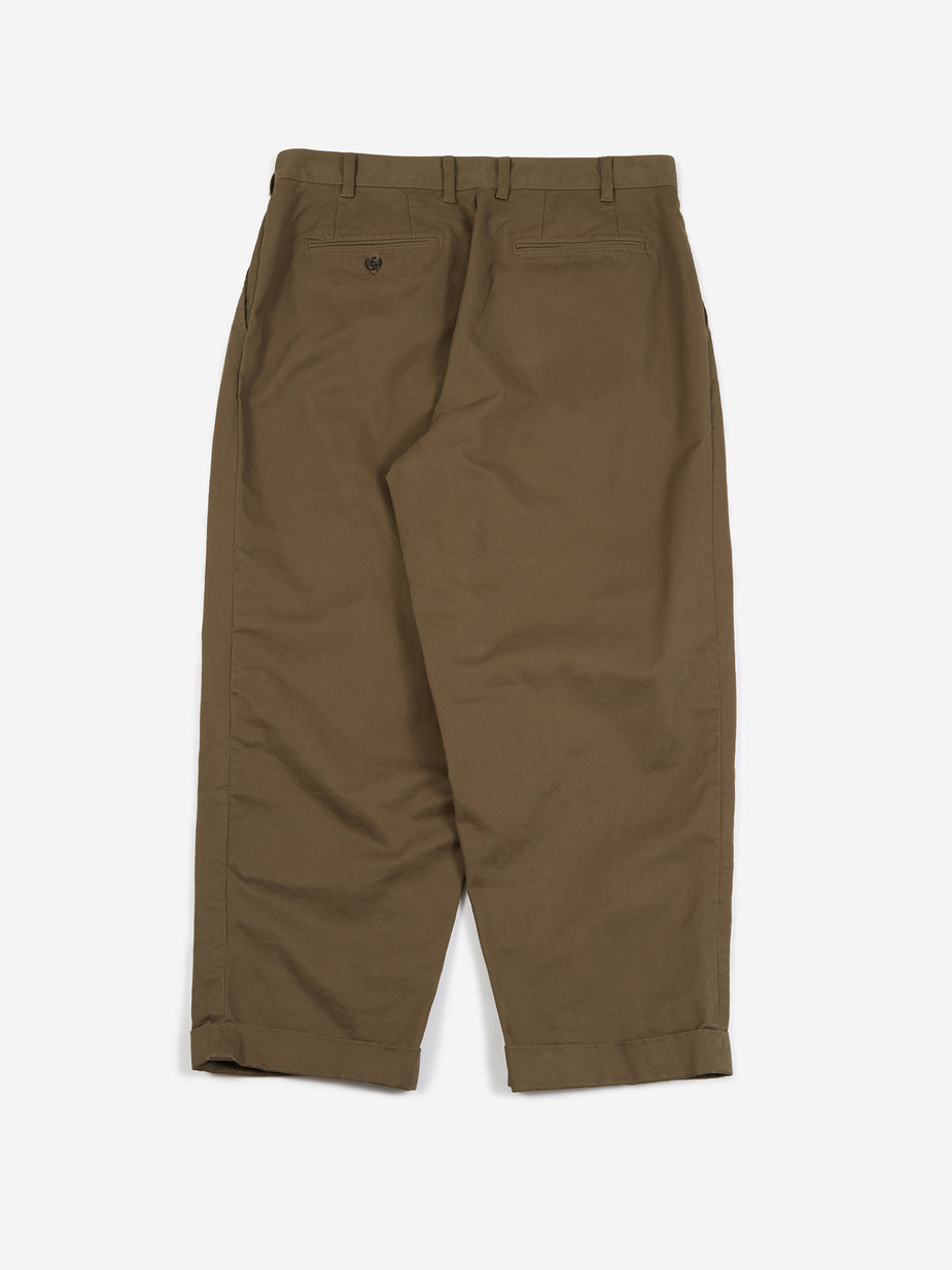 Beams Plus Beams Plus 2 Pleats Twill Trouser - Olive - Green