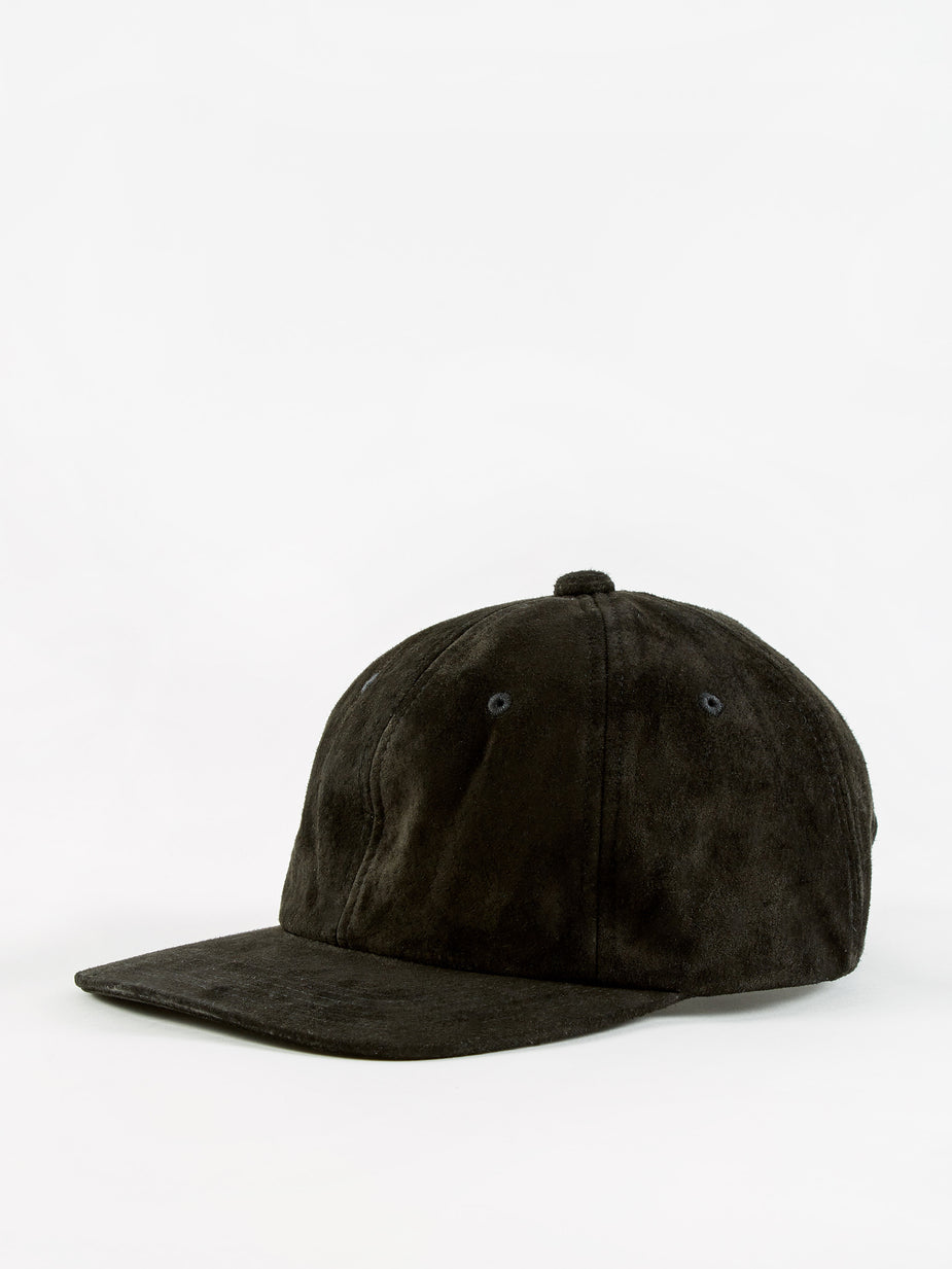 Beams Plus Beams Plus 6 Panel Suede Cap - Black - Black