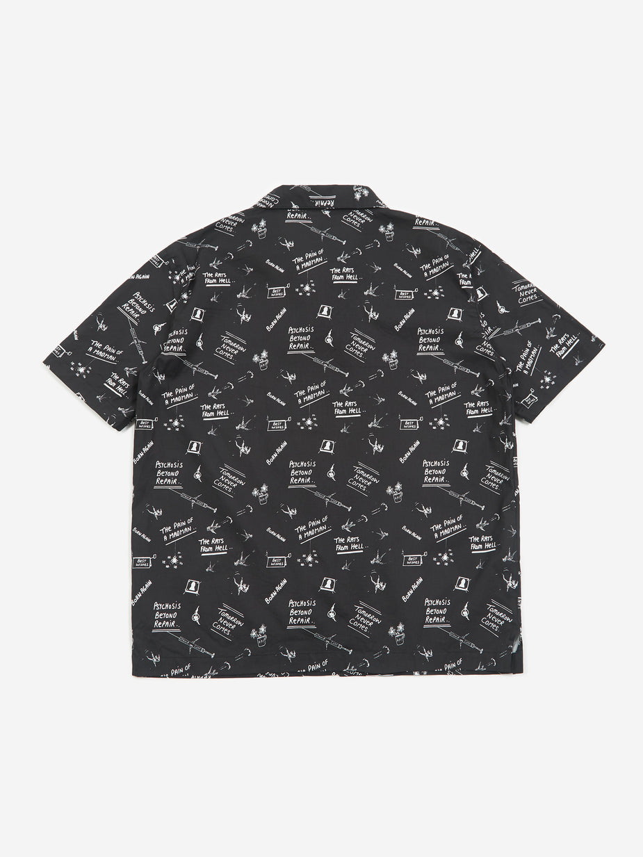 Born Again Born Again Doodles Shortsleeve Shirt - Black/White - Black