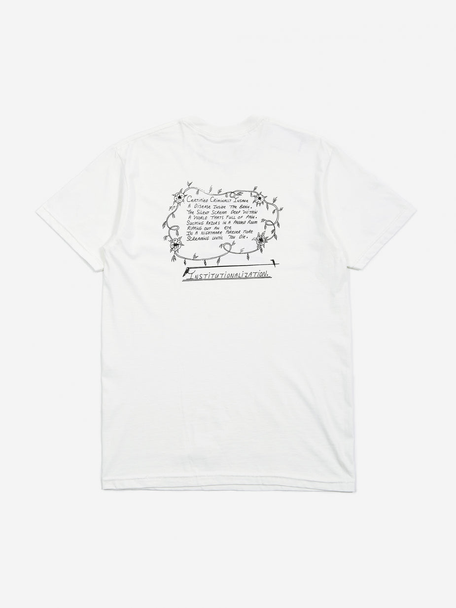 Born Again Born Again Psychosis Beyond Repair Shortsleeve T-Shirt - White - White