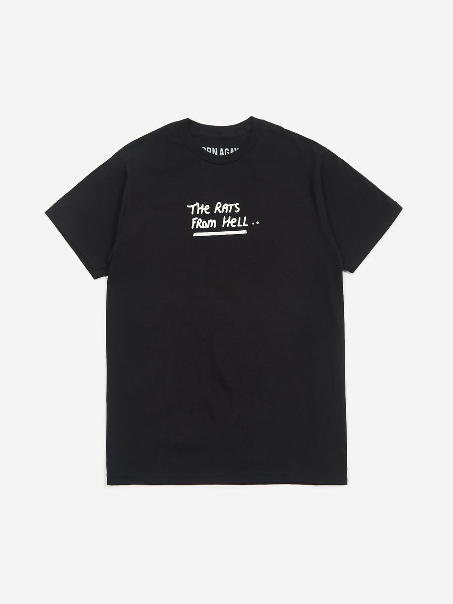 Born Again Born Again Rats From Hell Shortsleeve T-Shirt - Black - Black