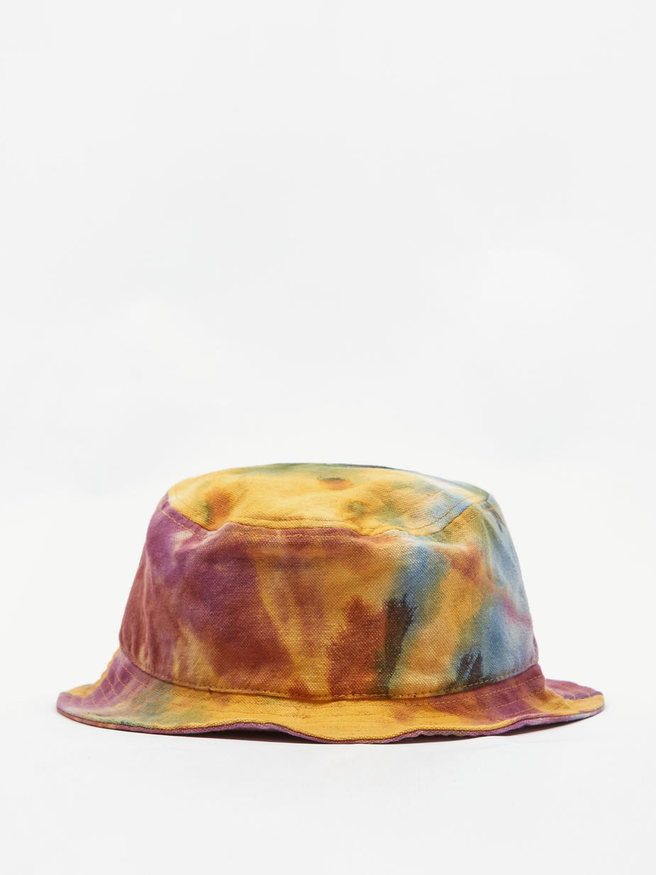 Brain Dead Brain Dead Dyed Canvas Bucket Hat - Tie Dye - Tie-Dye