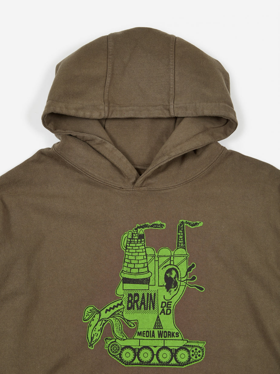 Brain Dead Brain Dead Media Works Hoodie - Black - Black