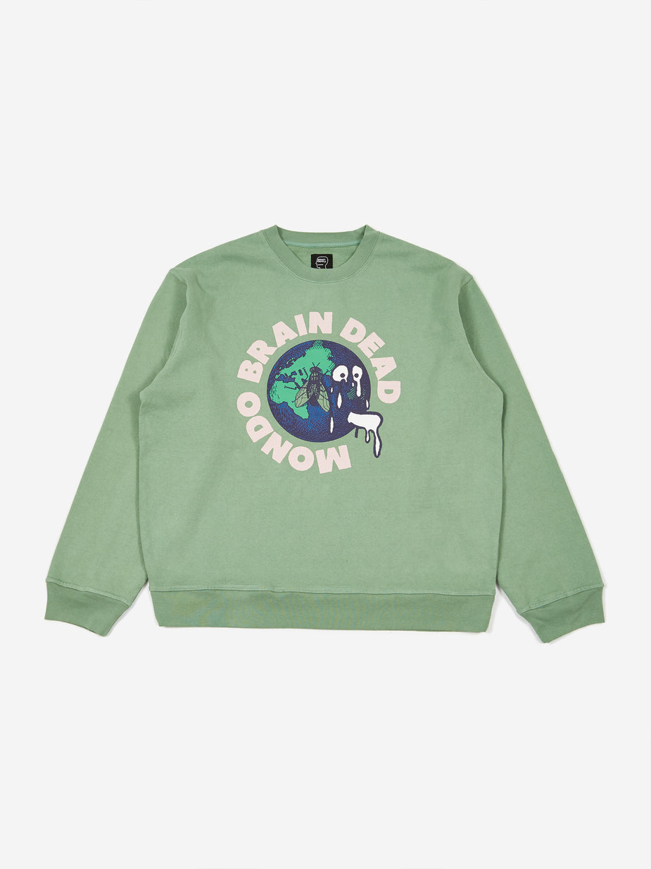 Brain Dead Brain Dead Mondo Crewneck Sweatshirt - Putty - Other
