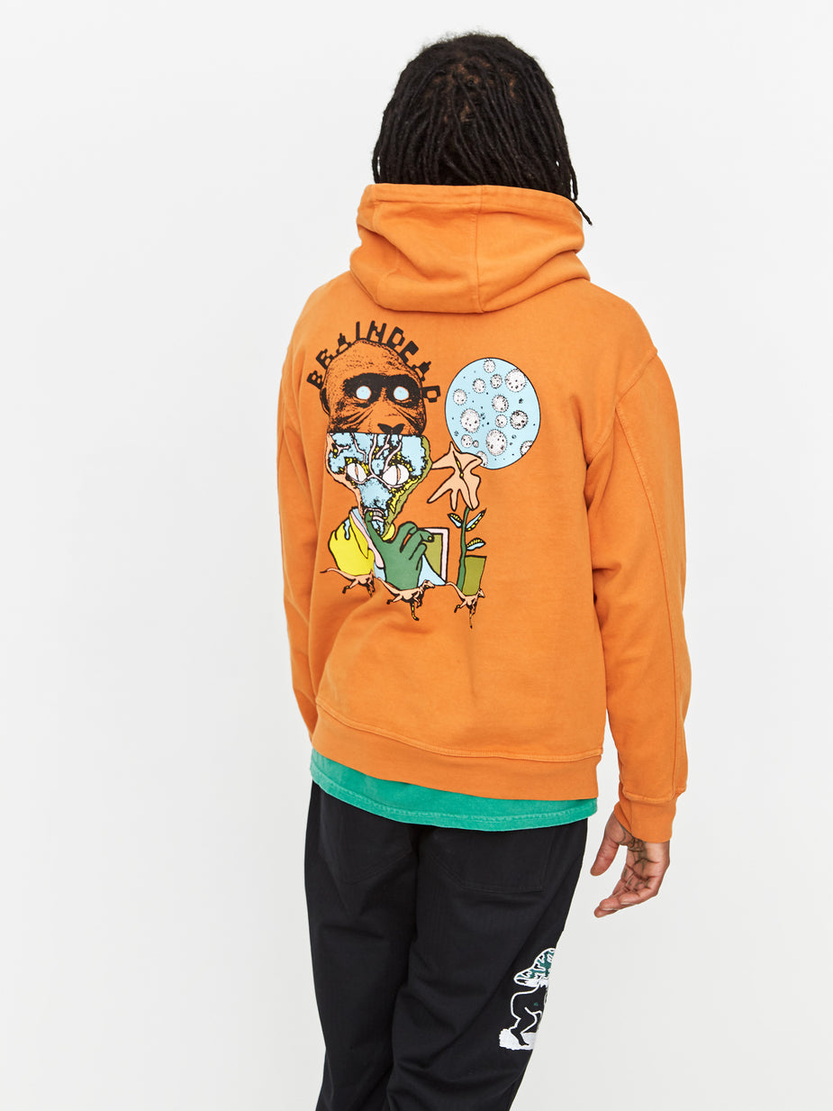 Brain Dead Brain Dead New Flesh Hooded Sweatshirt - Orange - Orange