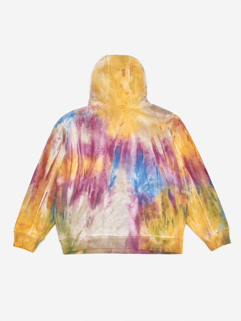 Brain Dead Brain Dead Shout PVC Patch Hooded Sweatshirt - Tie Dye - Tie-Dye