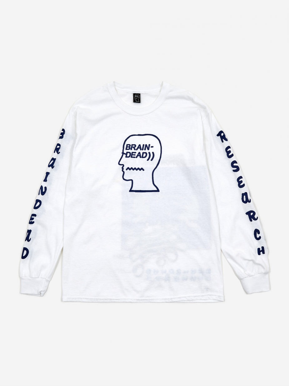 Brain Dead Brain Dead Vehicle Longsleeve T-Shirt - White - White