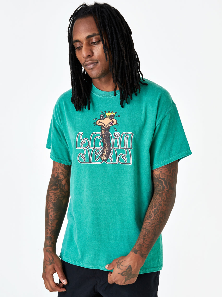 Brain Dead Brain Dead Wormzzz Shortsleeve T-Shirt - Kelly Green - Green
