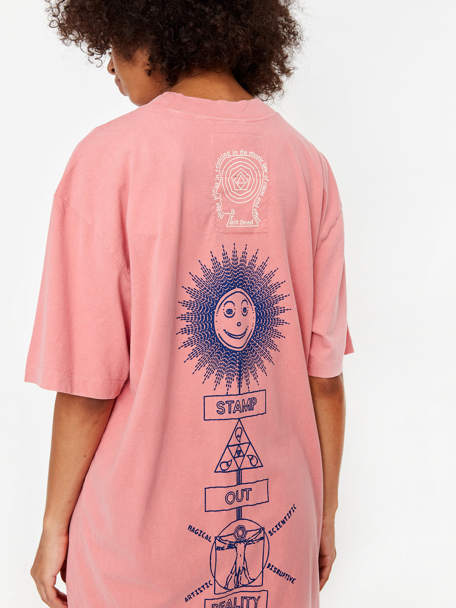 Brain Dead Brain Dead x The North Face Shortsleeve T-Shirt Dress - Mesa Rose - Pink