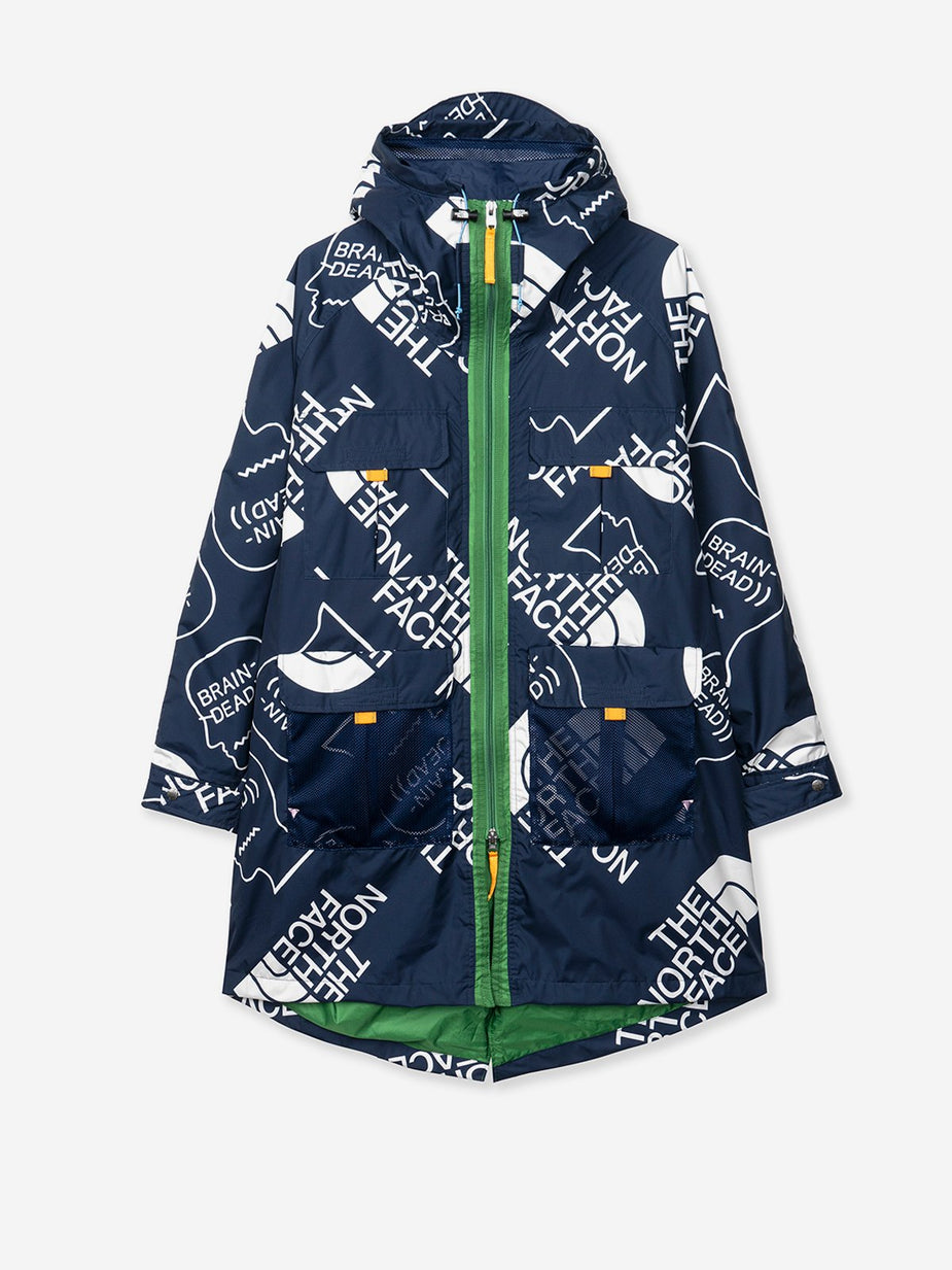 Brain Dead Brain Dead x The North Face Oversized Mountain Light Parka - TNF Navy/Vintage White - Navy