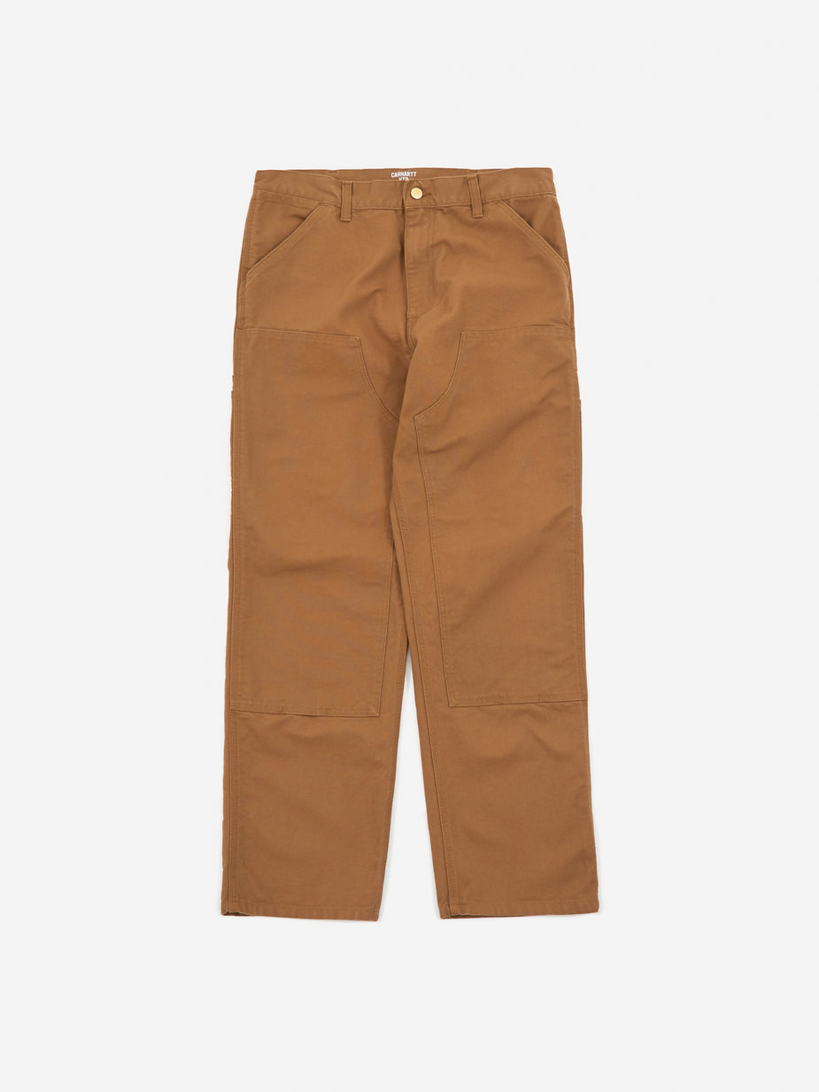 Carhartt WIP Carhartt WIP Double Knee Pant - Hamilton Brown Rinsed - Brown