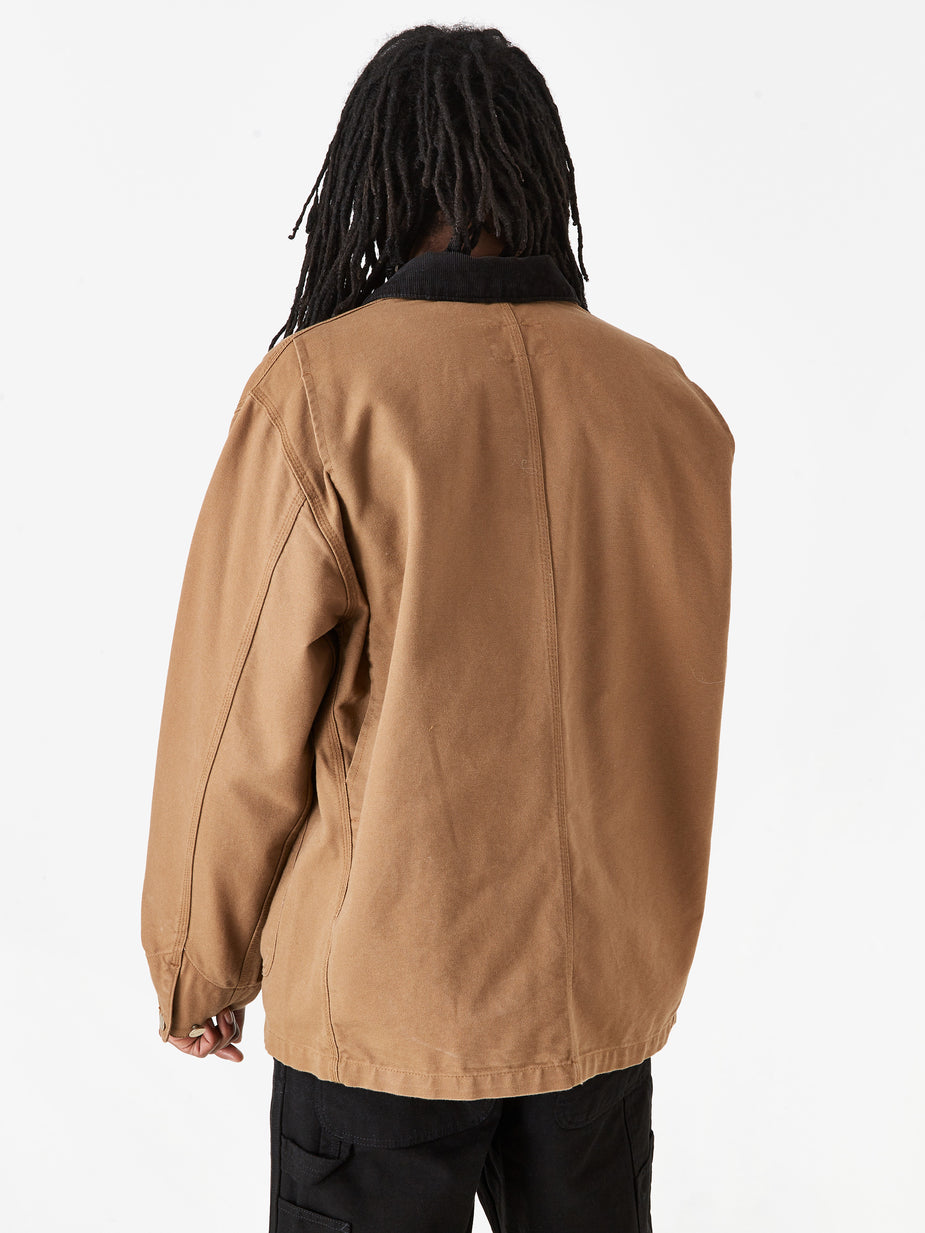 Carhartt WIP Carhartt WIP OG Chore Coat - Hamilton Brown/Black Rinsed - Brown