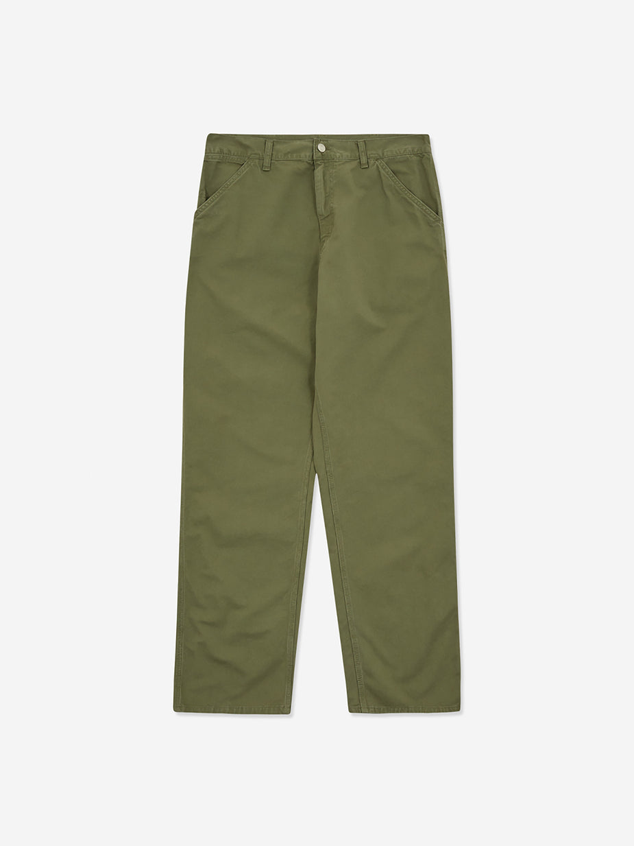 Carhartt WIP Carhartt WIP Single Knee Pant - Dollar Green - Green