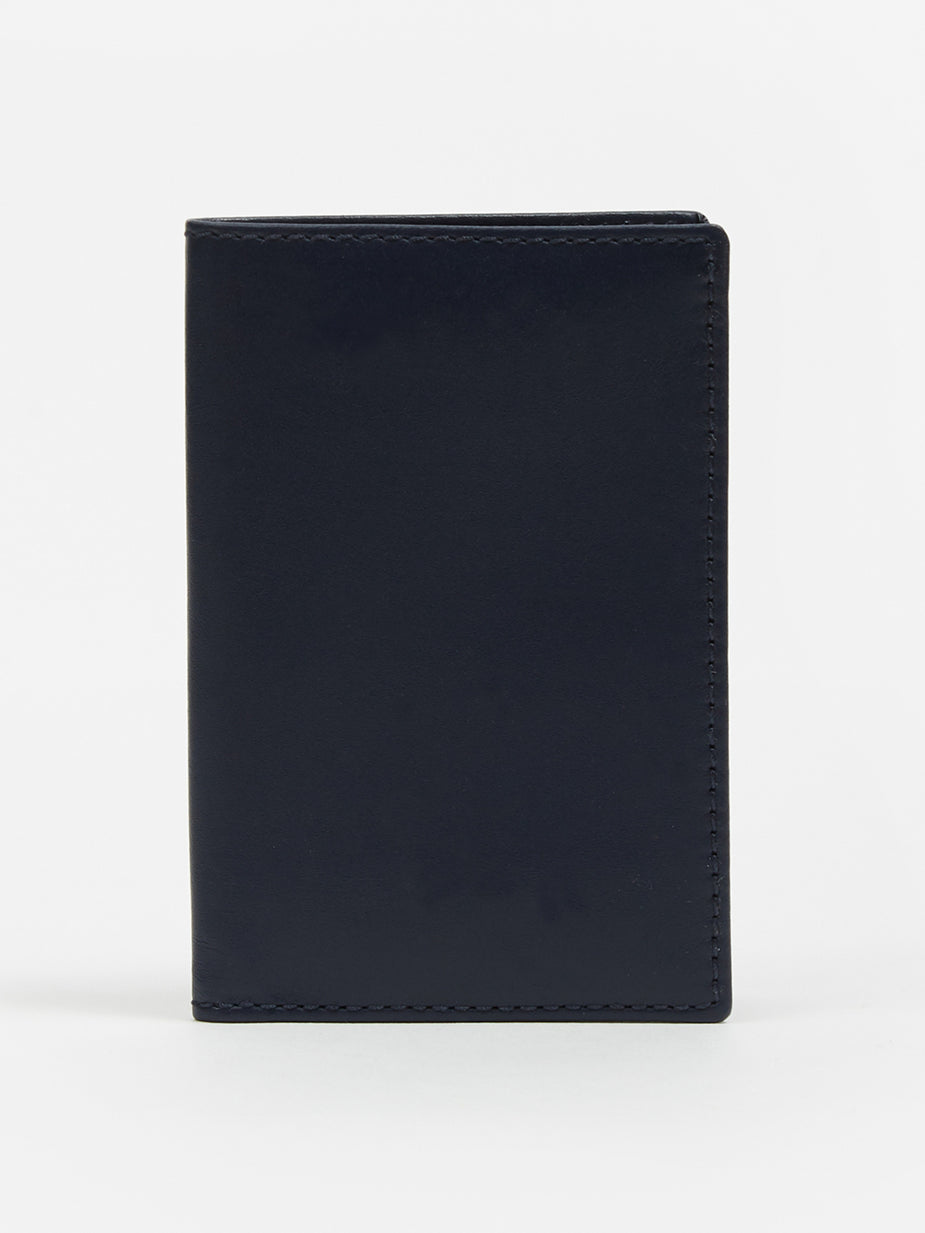 Comme des Garcons Wallets Comme des Garcons Wallet Card Holder (SA6400) - Navy - Blue
